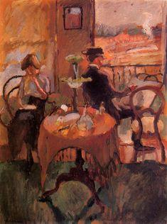 Interior Scene 1910 painting