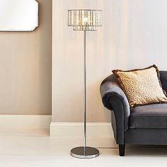 Monica Chrome Floor Lamp | Dunelm