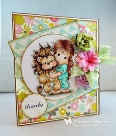 Loves Rubberstamps Challenge Blog: Challenge #133 - ANYTHING GOES! using Magnolia Stamps Tilda With Leo the Lion