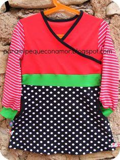 Para mi peque con amor: Túnica - camiseta... ¡regalo para una amiga del peque!