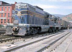 B&O in Cumberland, MD circa 1956 Baltimore And Ohio Railroad, System Map, Old Trains, Train Engines, Rolling Stock, Diesel Locomotive, East Coast, Past, Trains