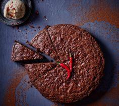 Choc chilli mud cake.