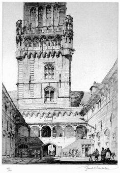 Samuel Chamberlain (1895-1975-American) - Courtyard Market, Bruges - 1928 (variant)