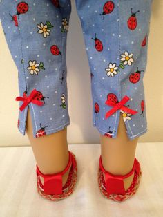 American Made 18 Girl Doll Clothing Capris and Tank Blue