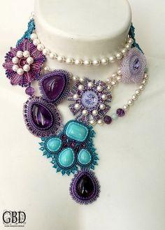 """Guzel Bakeeva """"Vintage Rose"""" Necklace"""