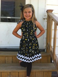 Iowa Hawkeyes Chevron Pillowcase Dress for by BlueJeansJellyBeans, $20.00