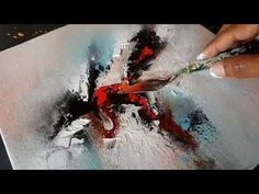 Abstract Painting / Using Cloth and Palette Knife in Acrylics / Demo / Project 365 days / Day #018 - YouTube