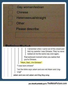 Mom, Dad, I Think I'm Chinese