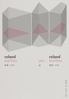 roland barthes par roland barthes / 2012 - I like the pink line and it's representation of a section