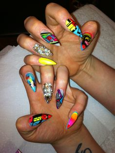 I like the designs but not the nail shape