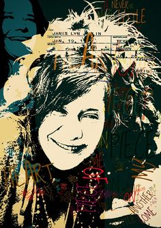 Janis Joplin Music poster fine art Piece of My Heart - .