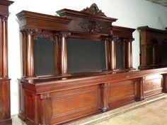 16' Quarter Sawn Oak Montrose Bar, circa 1901