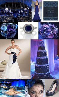 Navy Wedding Inspiration Board.. beautiful for a night time wedding