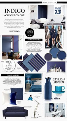 Designer's tips on using indigo- Colour Futures colour of the year- in your #interiors