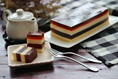 Puding Kopi Berlapis Keju / Coffee Cheese Pudding ~ Resepi Terbaik