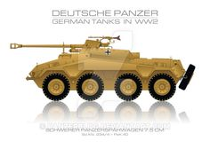 Sd. Kfz. 234/4 - German tank - Panzer by panzerblog.deviantart.com on @DeviantArt