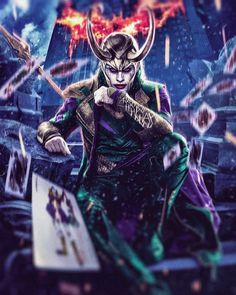[Fan-Art] Joker x Loki Mashup by Masaolab Harley Quinn, Joker And Harley, Superman V, Ben Affleck Batman, Captain America Costume, Joker Art, Joker Pics, Cultura Pop, Avengers Infinity War