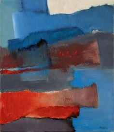 Fritz Winter - Horizontal Vertikal - Oil on canvas