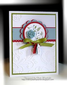 SU Sweet Summer, Tiny Tags, sub a cardstock or ribbon flower