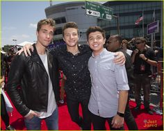 Austin North, Jake Short and Bradley Steven Perry at the Radio Disney Music Awards 2016