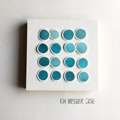 "- Kim Wiessner Makes Art (@kimwiessner) on Instagram: ""Turquoise green vibes in progress.  #kimwiessnermakesart #colorlove #carveouttimeforart"""