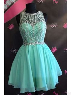 beading homecoming dresses,short prom dresses, chiffon prom dresses #SIMIBridal #promdresses