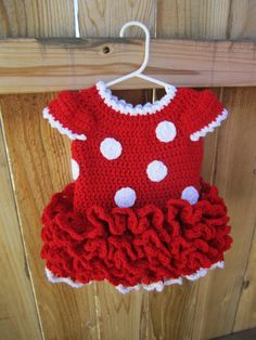PATTERN Minnie Mouse Dress and Ears by JuliesCrochet33 on Etsy