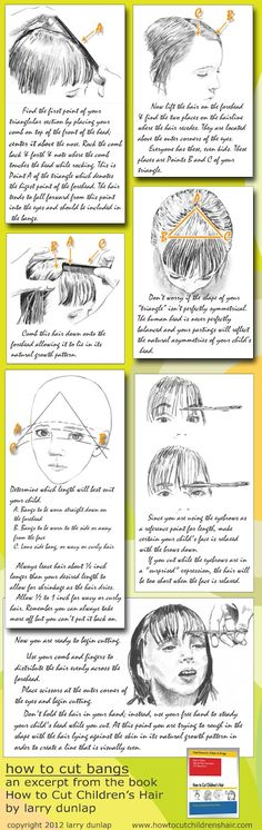 How To Cut Bangs. The link is dead, but the pin says it all