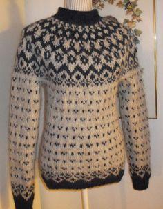 Icelandic Sweaters, Knit Sweaters, Fair Isle Knitting, Knit Jacket, Knitwear, Turtle Neck, Pullover, Wool, Jackets