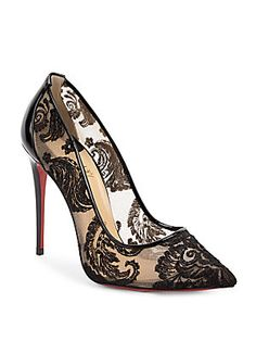 cad68bb911b9 Christian Louboutin - Follies Lace 100 Point Toe Pumps