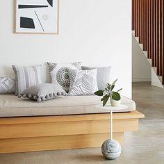 Malo Breakfast Cushion by Rapee Living Room Colors, Living Room Decor, Living Spaces, Bedroom Decor, Small Space Interior Design, Interior Design Living Room, Family Room, House Design, Lounge Cushions