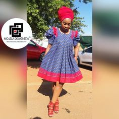 Venda Traditional Attire, Sotho Traditional Dresses, South African Traditional Dresses, Traditional Outfits, Short African Dresses, Latest African Fashion Dresses, Ladies Day Dresses, Seshweshwe Dresses, Elegant Dresses