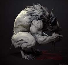 Werewolf model by Maria Panfilova Mythical Creatures Art, Fantasy Creatures, Werewolf Art, Werewolf Drawings, Vampires And Werewolves, Monster Design, Arte Horror, Wow Art, Creature Concept