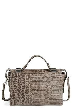 Ivanka+Trump+'Bedminster'+Croc+Embossed+Leather+Satchel+available+at+#Nordstrom