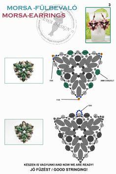 Free Pattern - MORSA Earrings. Page 3 of 3