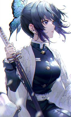 Shinobu Kochou, Demon Slayer: Kimetsu no Yaiba, Demon Slayer: Kimetsu no Yaiba bookmarks / 胡蝶しのぶ - pixiv Cool Anime Girl, Pretty Anime Girl, Girls Anime, Cute Anime Pics, Beautiful Anime Girl, Kawaii Anime Girl, Cute Anime Couples, Anime Art Girl, Anime Neko