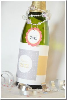 Decorate your New Year's Eve party bottles