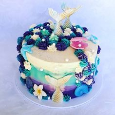Mermaid Birthday Cakes   POPSUGAR Moms