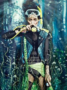 Sera Park's Style Cakewalk In 'Under the Sea' By Zo Sun Hi For W Magazine Korea - 3 Sensual Fashion Editorials