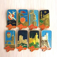 Soviet сities of the sunny Crimea - Set pin badges - Vintage soviet pin badge -Vintage pin, Badge, from USSR-Russian vintage by PinBadges on Etsy