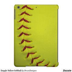 Dayglo Yellow Softball iPad Air Case