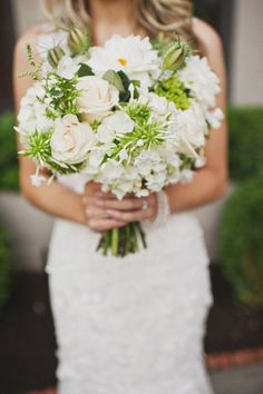 White and green are the wedding flowers of my future