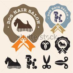 Salón DE Pelo DE Conjunto DE Iconos DE Vector DE Scottish Terrier ...