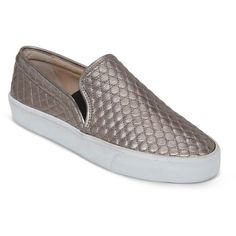 66cff7df5bfee4 My new favorite.  ) Vince Camuto Slip On Sneakers - Banner Metallic Quilted  (