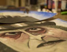 "Check out new work on my @Behance portfolio: ""Cuadro ""Pinguino"" - serie Tim Burton"" http://be.net/gallery/59151405/Cuadro-Pinguino-serie-Tim-Burton"