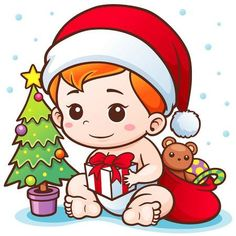 Illustration of Vector Illustration of Cartoon Cute Baby Santa Merry Christmas concept vector art, clipart and stock vectors. Christmas Clipart, Christmas Baby, Merry Christmas, Christmas Ideas, Xmas Clip Art, Old Paper Background, Christmas Address Labels, Blue Nose Friends, Baby Images