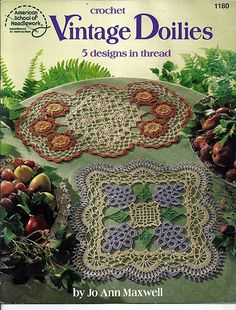 Vintage Doilies 5 Designs in Thread Crochet Pattern Book American School of Needlework 1180 by grammysyarngarden on Etsy