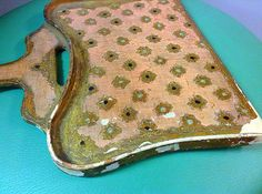 Vintage Gilt Florentine or French Dust Pan/Silent by HUEisit