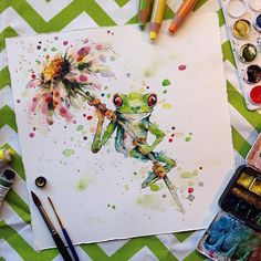 Watercolor frog