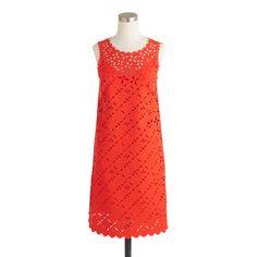 Laser-cut floral shift dress : dresses | J.Crew